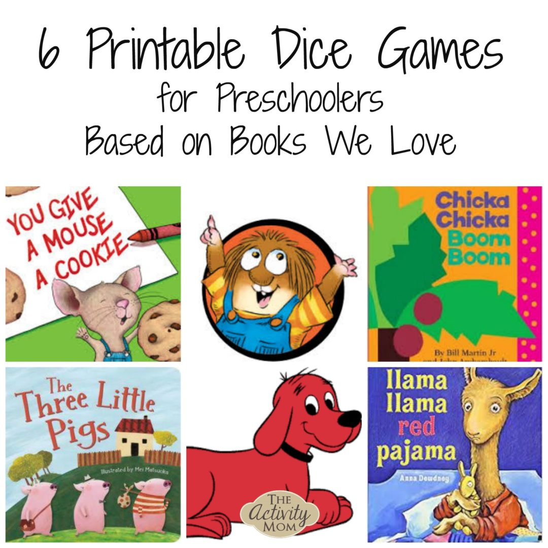 picture about Printable Dice Games identified as The Recreation Mother - 6 Printable Cube Online games Centered upon Publications