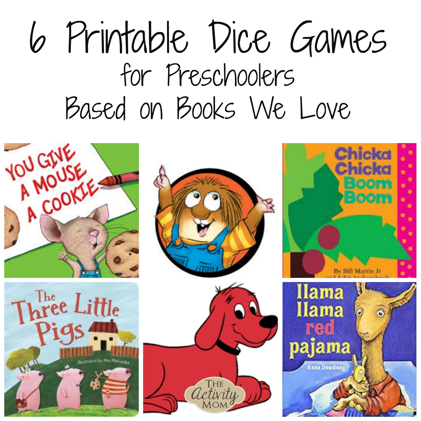6 Printable Dice Games Based on Books