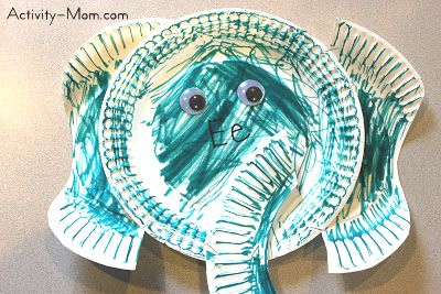 paper plate alphabet craft & The Activity Mom - Paper Plate Alphabet Craft - E is for Elephant ...