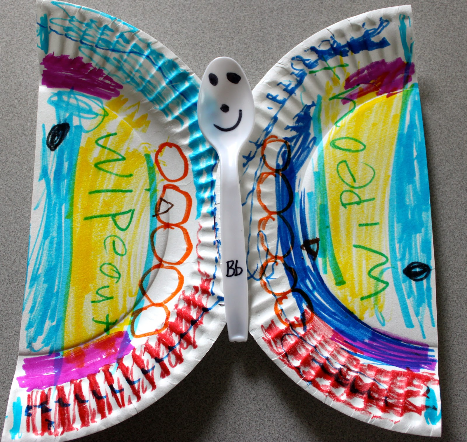 Paper plate alphabet craft b is for butterfly the activity mom