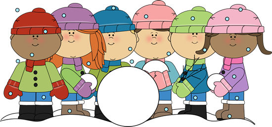 Back > Gallery For > Children Building A Snowman Clipart