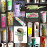 Toilet Paper Tube Alphabet Crafts A-Z