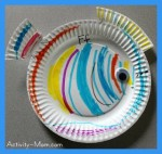 Paper Plate Alphabet Craft – F is for Fish