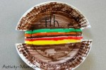 Paper Plate Craft – H is for Hamburger