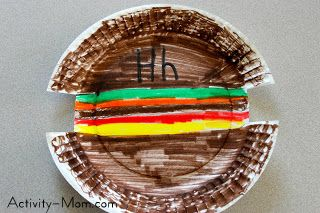 The Activity Mom Paper Plate Craft H Is For Hamburger