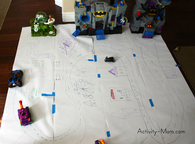 make a superhero city