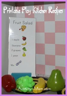 play kitchen recipes
