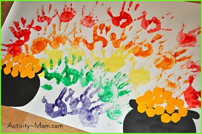 Rainbow Handprint Craft