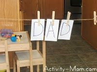 spelling with clothes pins