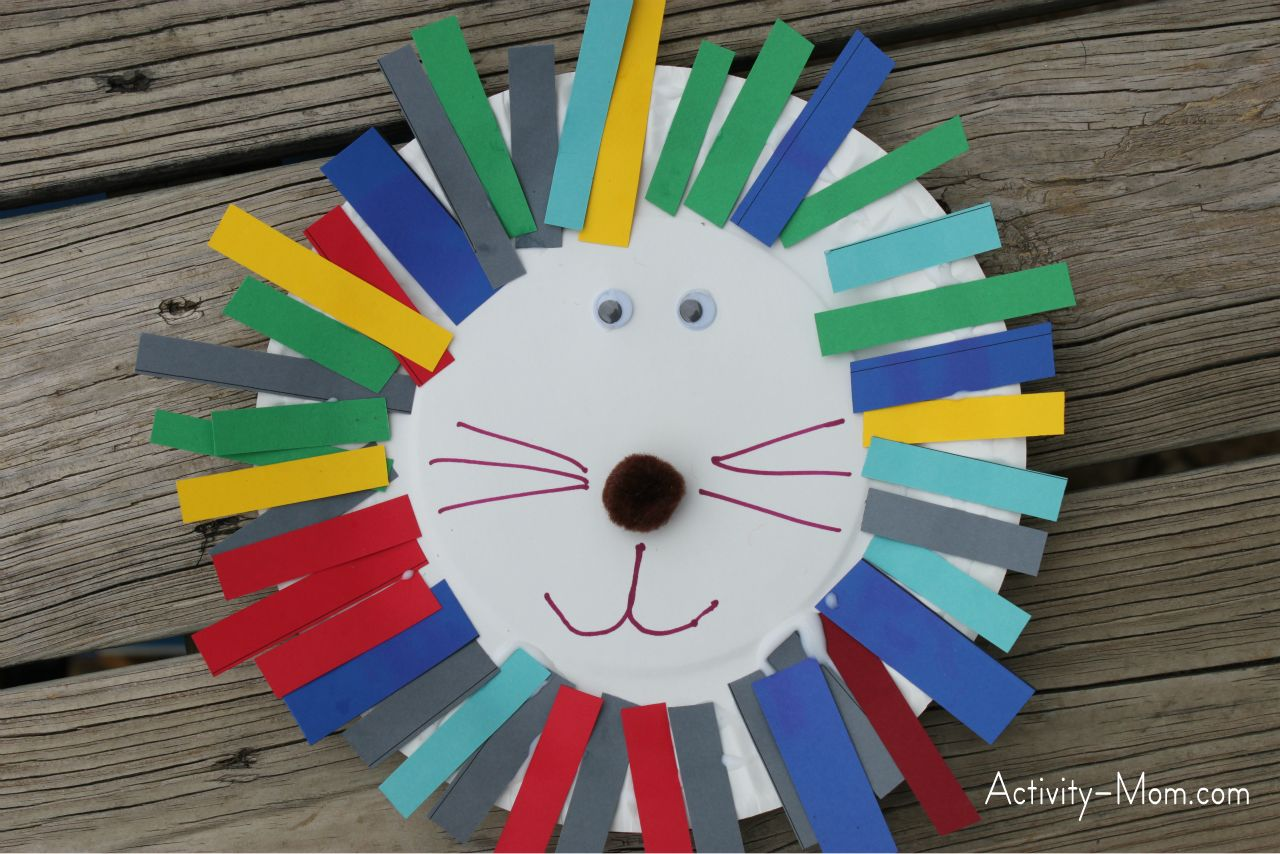 paper plate alphabet craft & The Activity Mom - Paper Plate Alphabet Craft - L is for Lion - The ...