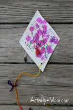 Paper Plate Alphabet Craft – K is for Kite