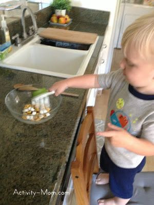 cooking with toddler