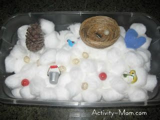Cotton Ball Sensory Play