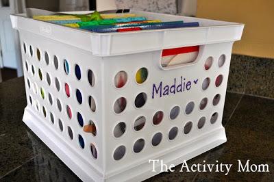 organizing kids' keepsakes