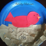 Paper Plate Alphabet Craft – N is for Nest