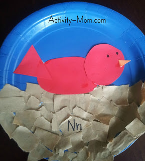 paper plate alphabet craft