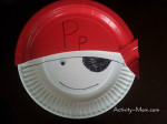 Paper Plate Alphabet Craft – P is for Pirate