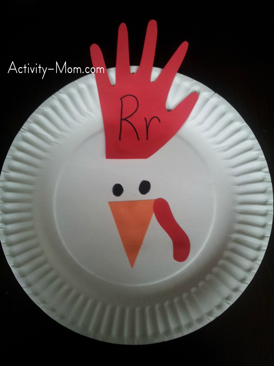paper plate alphabet craft & The Activity Mom - Paper Plate Alphabet Craft - R is for Rooster ...