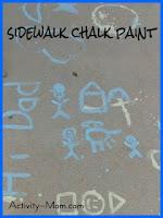 sidewalk chalk painting recipe