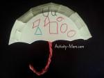 Paper Plate Alphabet Craft – U is for Umbrella