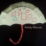 Paper Plate Alphabet Craft – U is for Umbrella