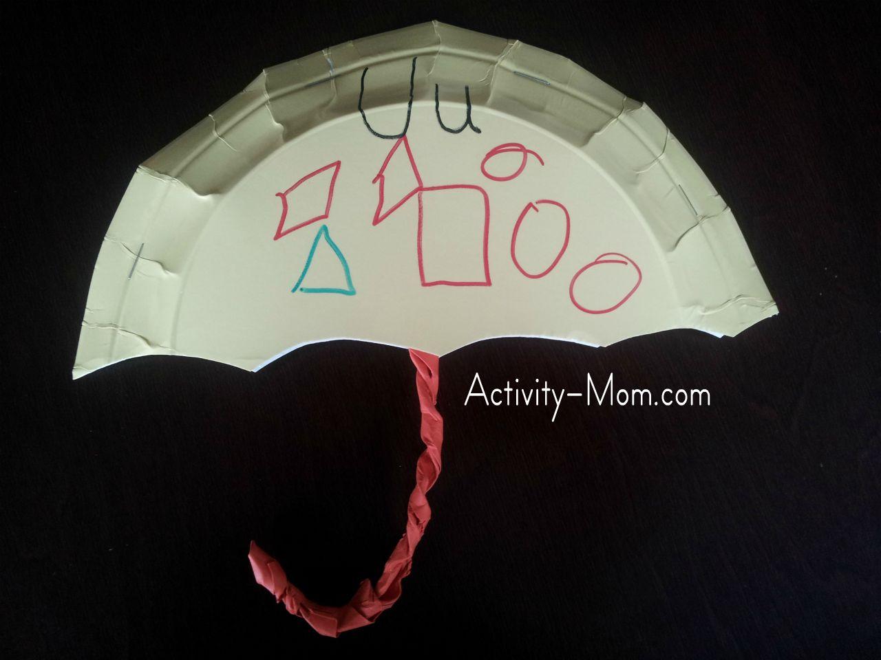 paper plate alphabet craft & The Activity Mom - Paper Plate Alphabet Craft - U is for Umbrella ...
