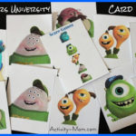 Monsters University Card Game (printable)