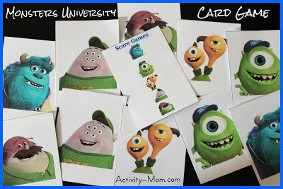 monsters university card game