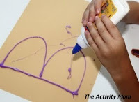 painting with colored glue