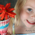 Paper Plate Alphabet Craft – V is for Vase