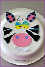 Paper Plate Alphabet Craft – Z is for Zebra