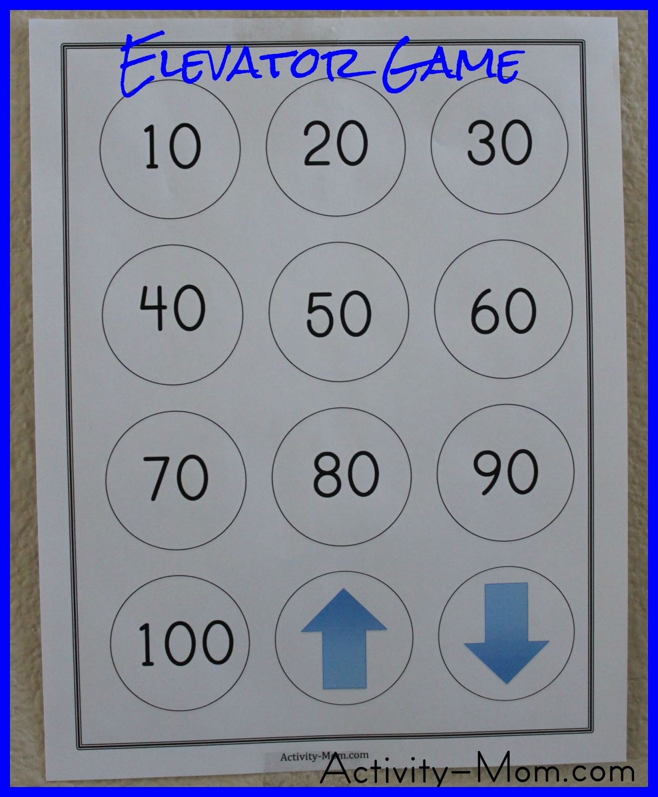 Learn to count by tens with this fun and simple Elevator Game!
