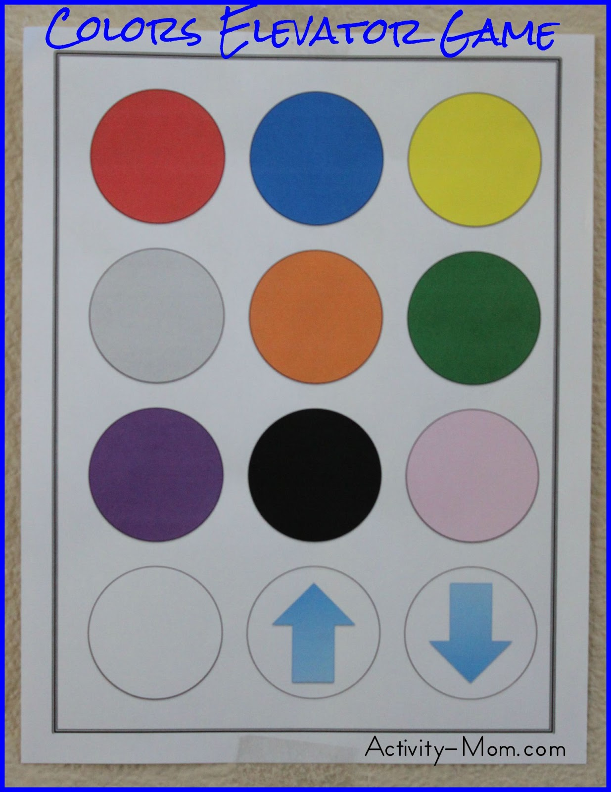 practice identifying colors with this simple and fun elevator game