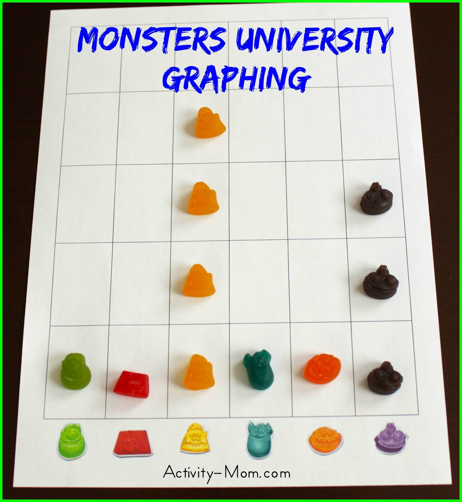 the activity mom monsters university graphing printable the