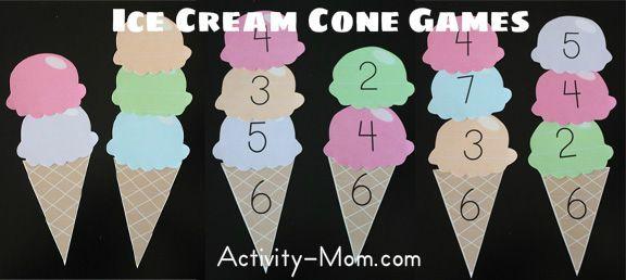 Ice Cream Games (printable)
