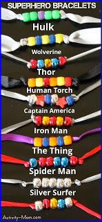 Super Hero Bracelets