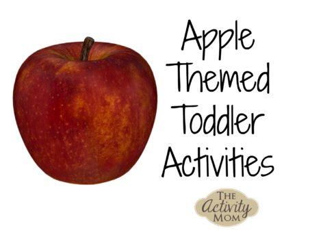Apple Themed Tot School Activities