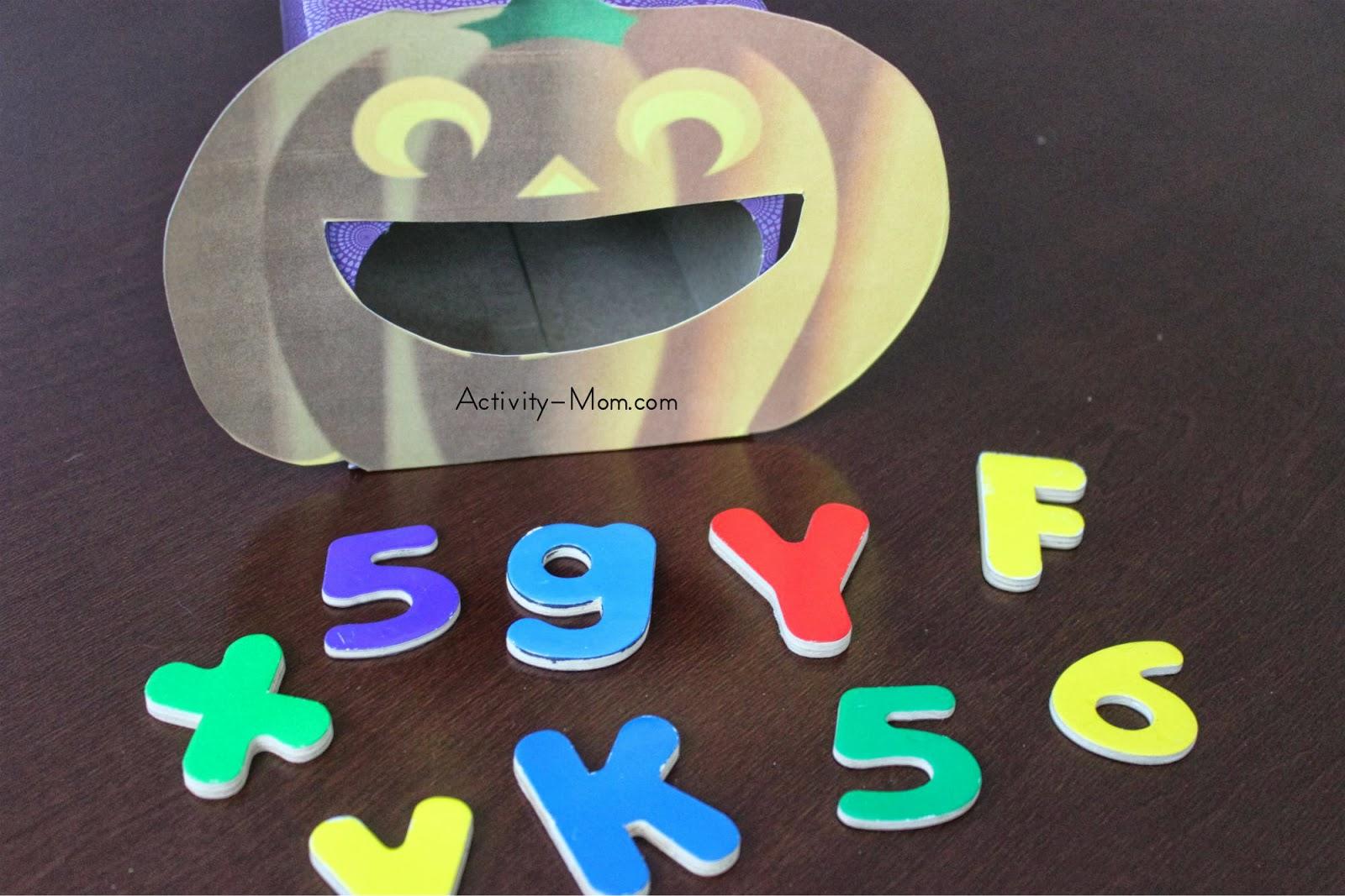Preschool Pumpkin Alphabet Game