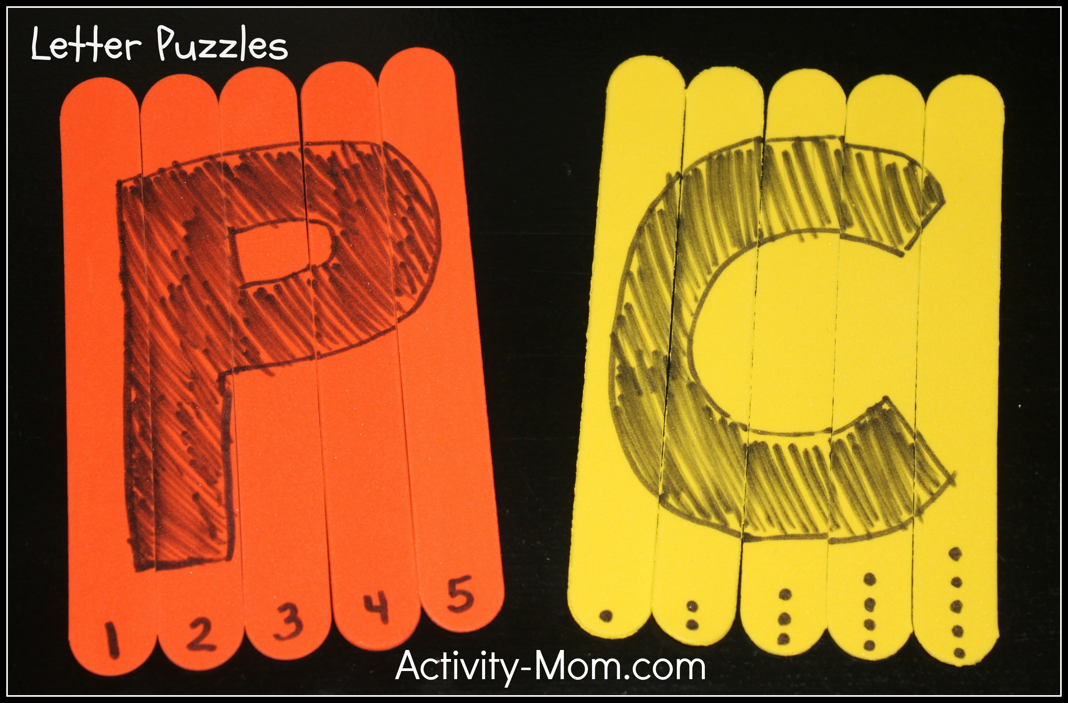 Letter Puzzles - The Activity Mom