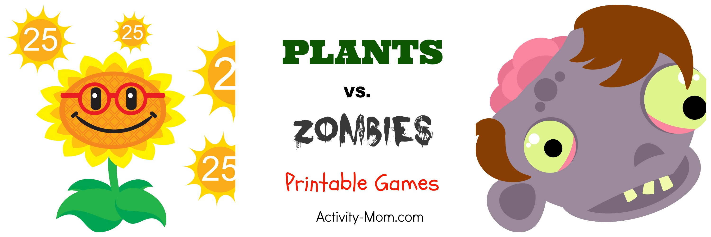 Plants vs. Zombies Themed Games (printable)