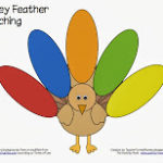 Turkey Feather Matching (printable)