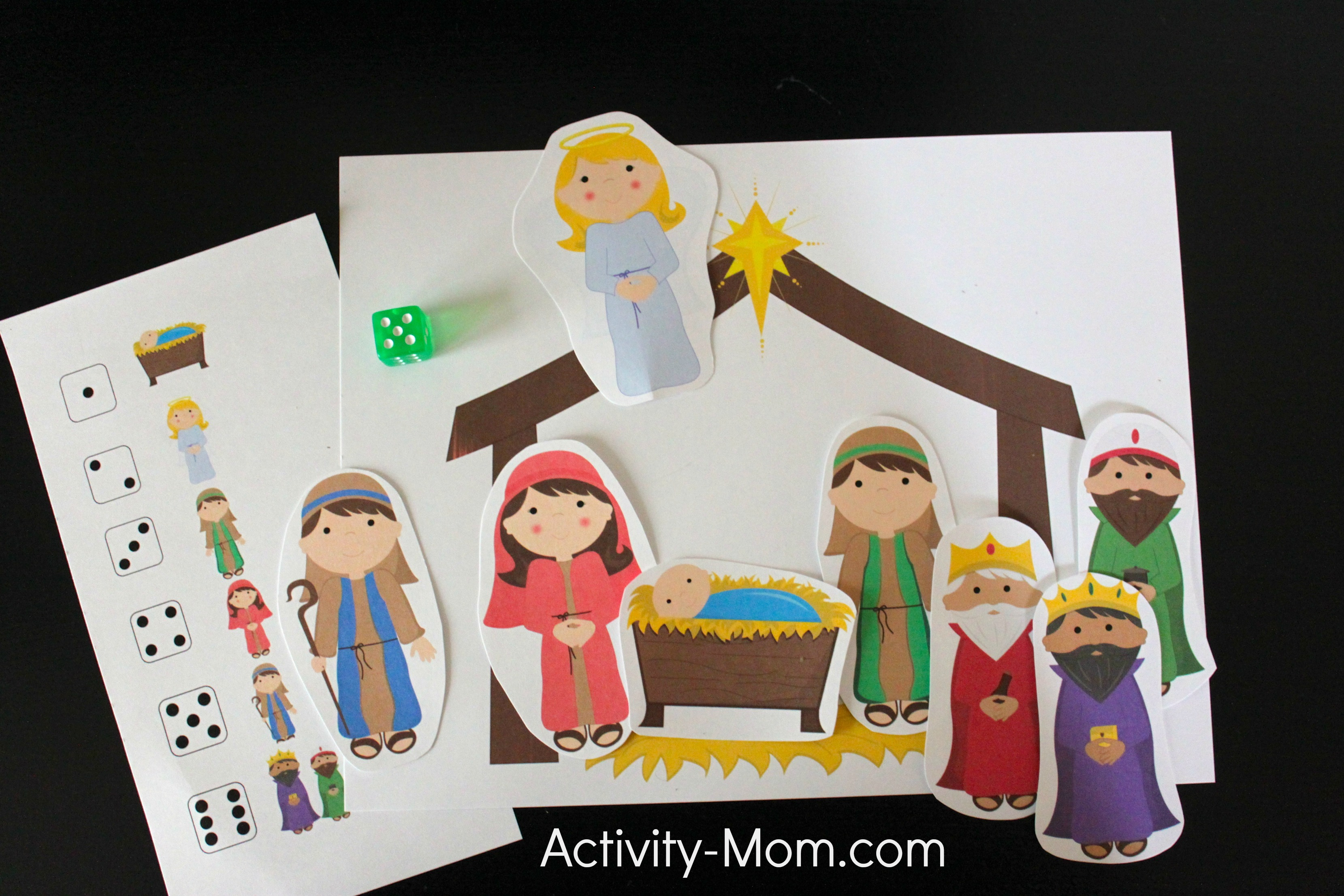 The Activity Mom - Away in a Manger Dice Game - The ...