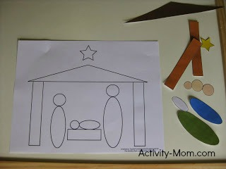 nativity shape craft 1