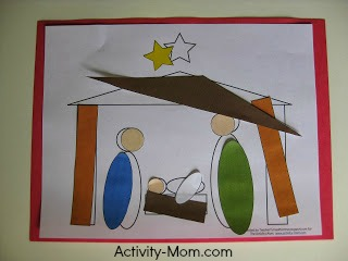 nativity shape craft 4