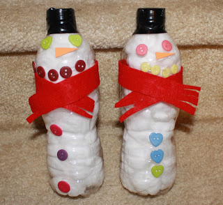 water bottle snowmen