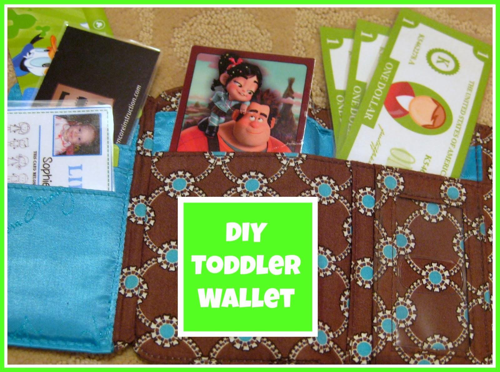 DIY Toddler Wallet