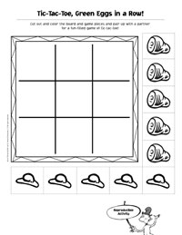 printable green eggs and ham rhyming game from obseussed - Green Eggs Ham Coloring Pages