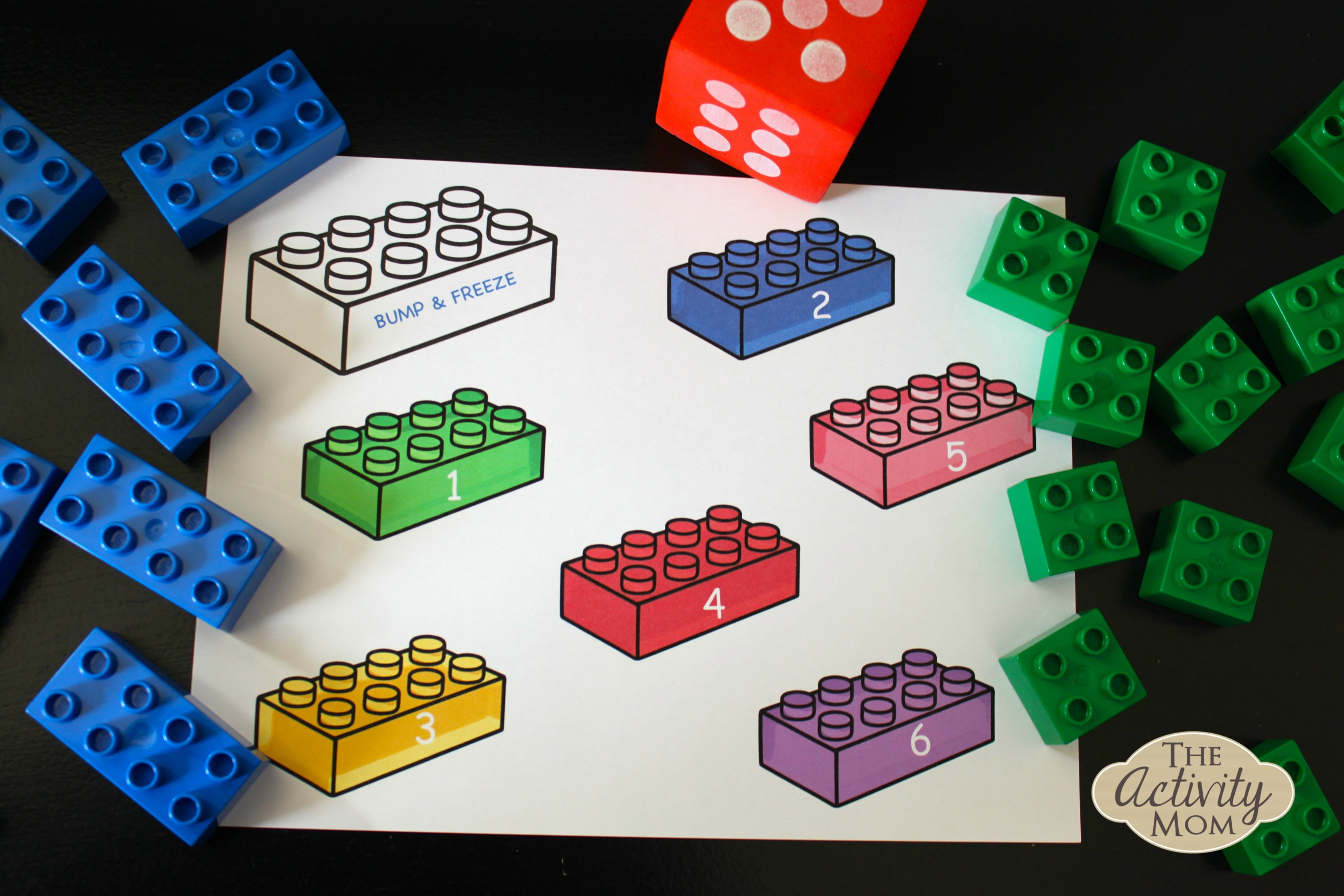 Lego Dice Game (printable)
