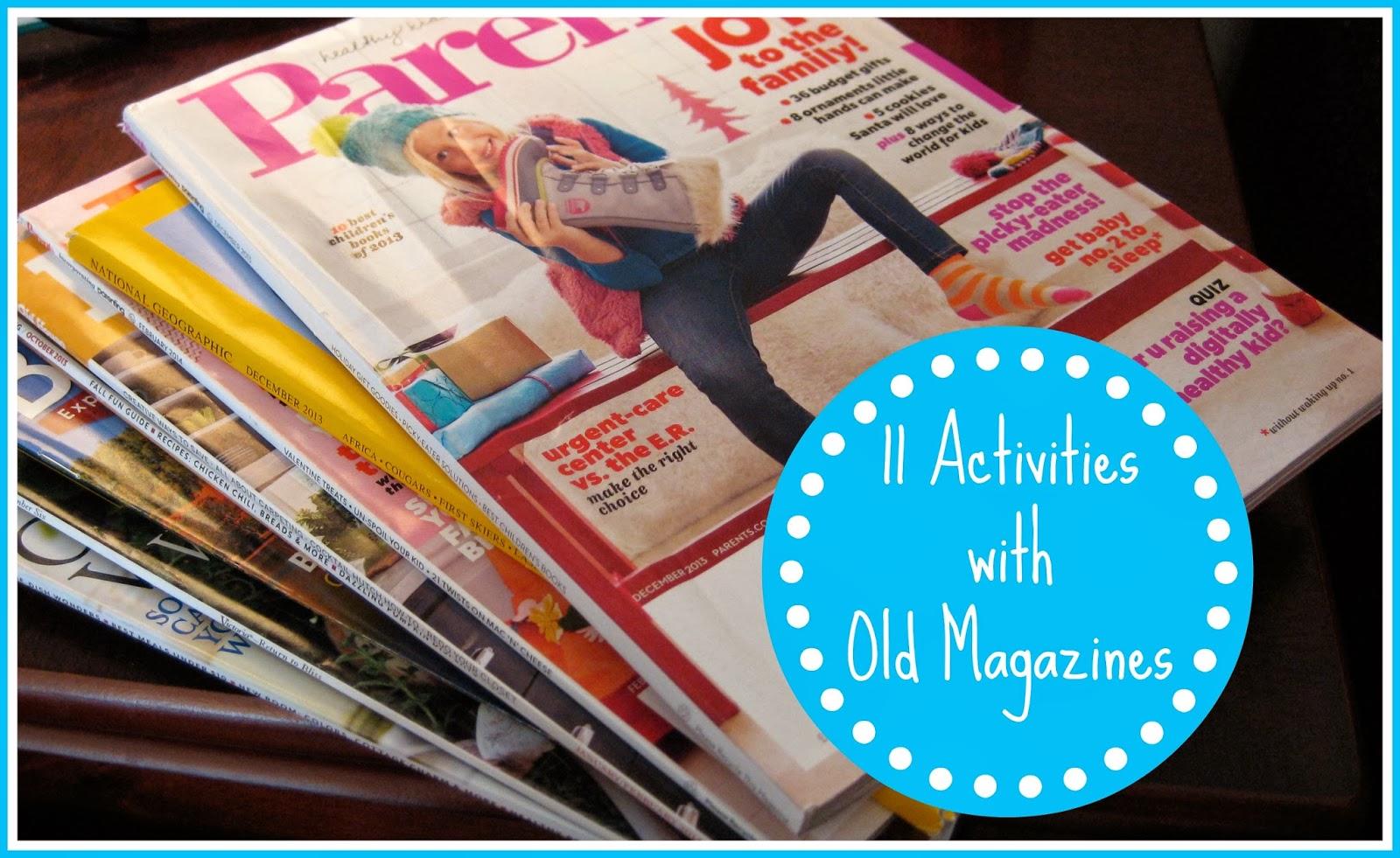 Kids' Activities using Old Magazines