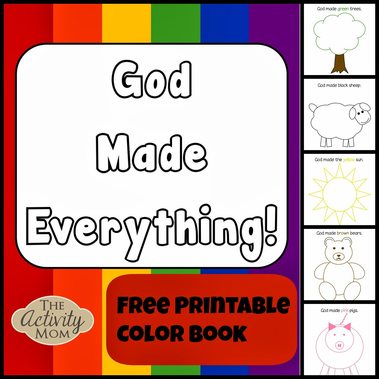God Made Everything Colors Book (printable)